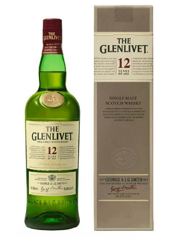 The Glenlivet ~ Whisky 12YO 40% 0.7L Cutie